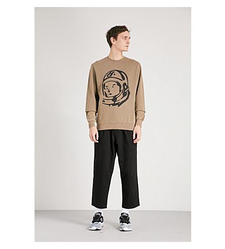 BILLIONAIRE BOYS CLUB Damaged Crewneck printed cotton-jersey sweatshirt (Taupe