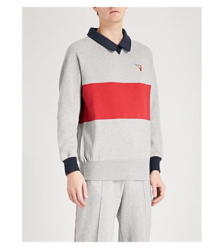 BILLIONAIRE BOYS CLUB Raygun cotton-jersey sweatshirt (Heather grey