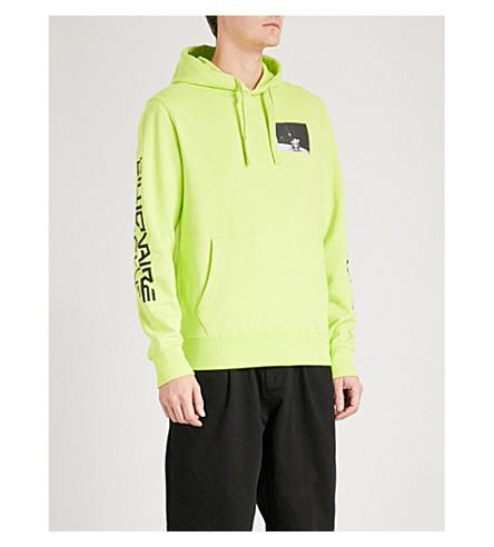 BILLIONAIRE BOYS CLUB EVA-1 cotton-jersey hoody (Cyber yellow