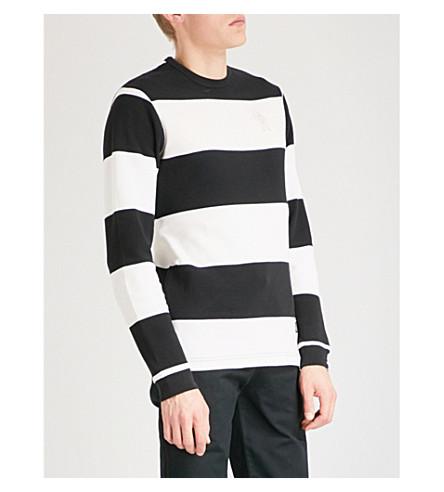 BILLIONAIRE BOYS CLUB 条纹热棉上衣 (白色