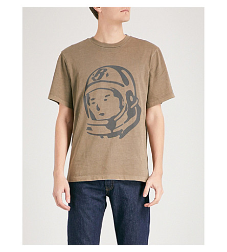 BILLIONAIRE BOYS CLUB Logo-print cotton-jersey T-shirt (Overdye+taupe