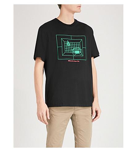 BILLIONAIRE BOYS CLUB 虚拟印花棉衫 t恤衫 (黑色