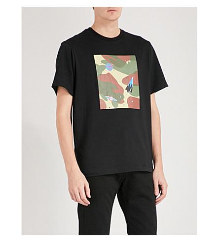 BILLIONAIRE BOYS CLUB Camouflage tile-print cotton-jersey T-shirt (Black