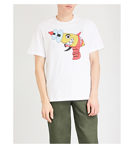 BILLIONAIRE BOYS CLUB Raygun-print cotton-jersey T-shirt (White