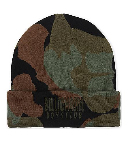 BILLIONAIRE BOYS CLUB Space camouflage beanie (Black