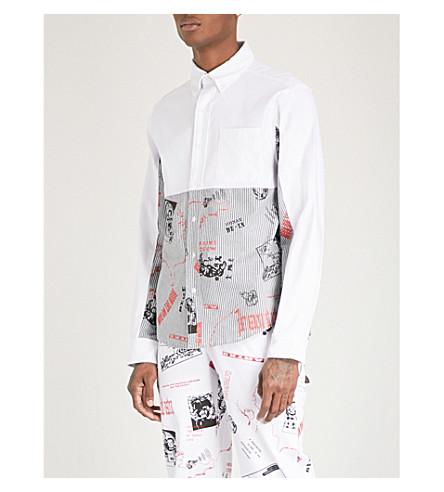 BILLIONAIRE BOYS CLUB Graphic-print regular-fit cotton Oxford shirt (White