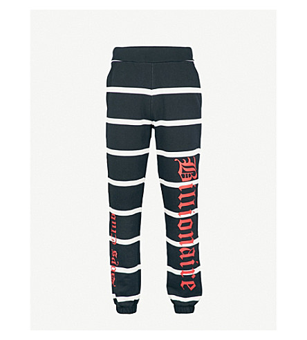 BILLIONAIRE BOYS CLUB Alpha Omega cotton-jersey jogging bottoms (Black
