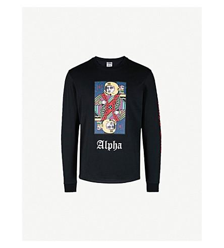 BILLIONAIRE BOYS CLUB Alpha Omega cotton-jersey top (Black