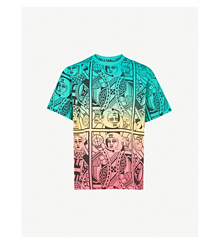 BILLIONAIRE BOYS CLUB Alpha Omega cotton-jersey T-shirt (Multi
