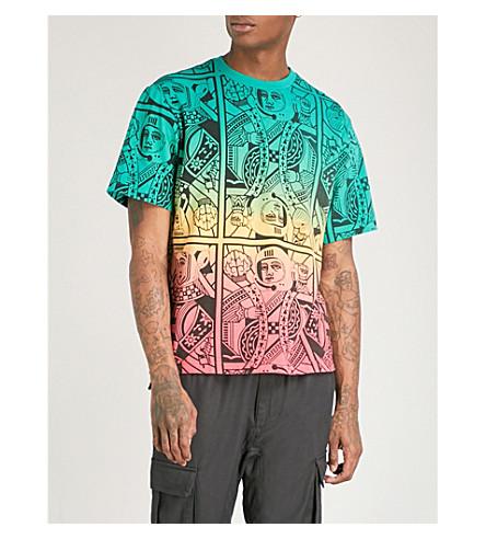 BILLIONAIRE BOYS CLUB Alpha Omega cotton-jersey T-shirt (Multi