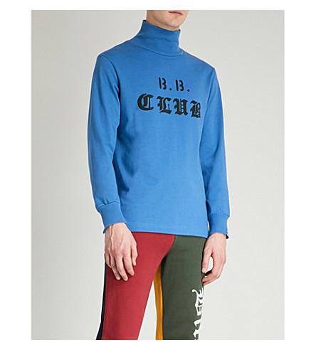 BILLIONAIRE BOYS CLUB Prime Crew cotton-jersey top (Blue