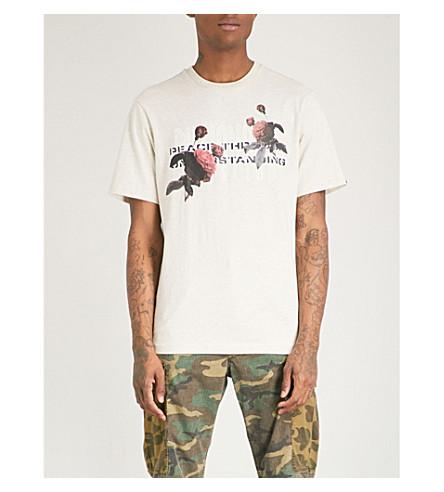 BILLIONAIRE BOYS CLUB Peace Through Understanding cotton-jersey T-shirt (Oat marl