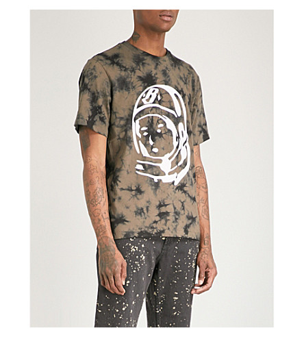 BILLIONAIRE BOYS CLUB Bleached logo-print cotton-jersey T-shirt (Black bleached