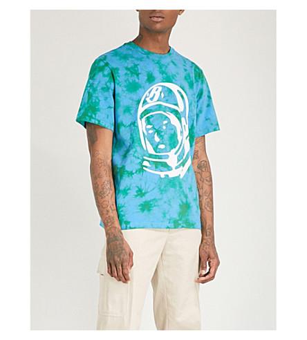 BILLIONAIRE BOYS CLUB Bleached logo-print cotton-jersey T-shirt (Green bleached