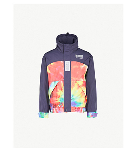 BILLIONAIRE BOYS CLUB Tie-dye shell jacket (Navy
