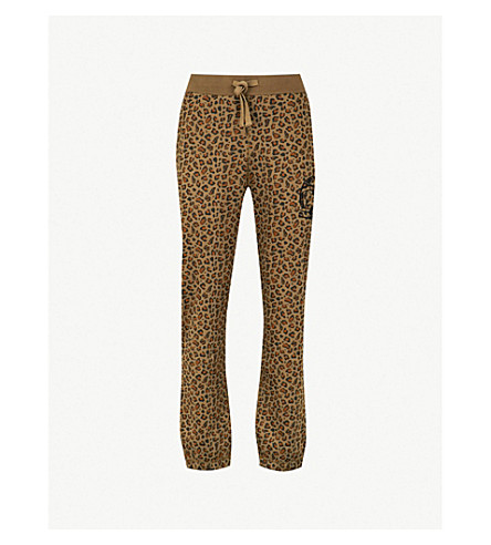 BILLIONAIRE BOYS CLUB Leopard-print cotton-jersey jogging bottoms (Brown