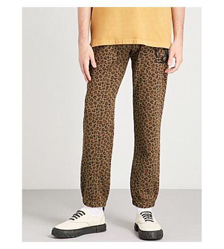 BILLIONAIRE BOYS CLUB Leopard-print cotton-jersey jogging bottoms (Brown