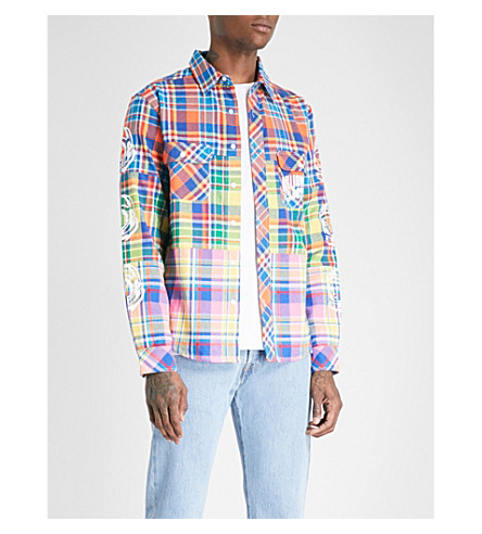 BILLIONAIRE BOYS CLUB Multi checked regular-fit cotton shirt (Multi