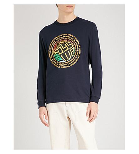 BILLIONAIRE BOYS CLUB Logo-print cotton-jersey top (Dress blue