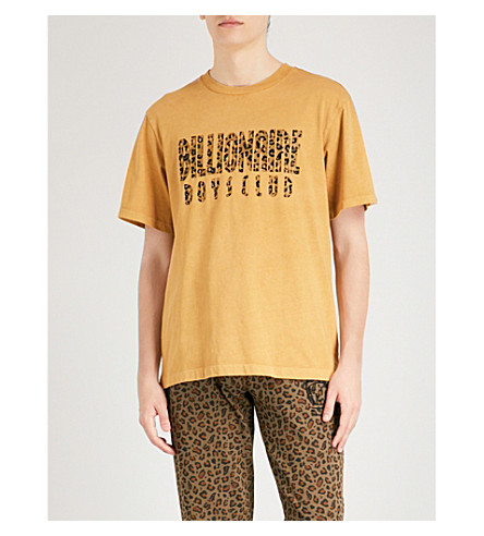 BILLIONAIRE BOYS CLUB Leopard logo cotton-jersey T-shirt (Golden