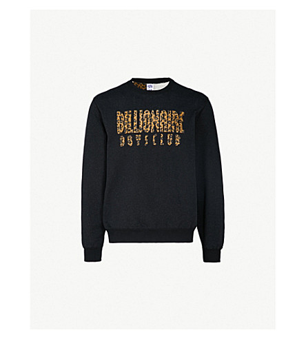BILLIONAIRE BOYS CLUB Reversible cotton-jersey sweatshirt (Black