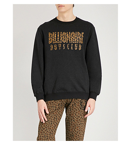 BILLIONAIRE BOYS CLUB Reversible cotton-jersey sweatshirt (Black