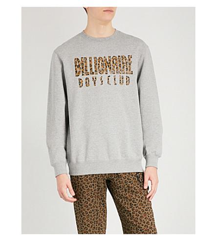 BILLIONAIRE BOYS CLUB Reversible cotton-jersey sweatshirt (Heather grey