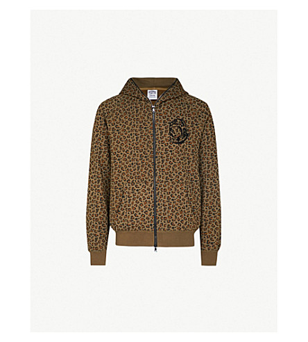 BILLIONAIRE BOYS CLUB Leopard-print cotton-jersey hoody (Brown