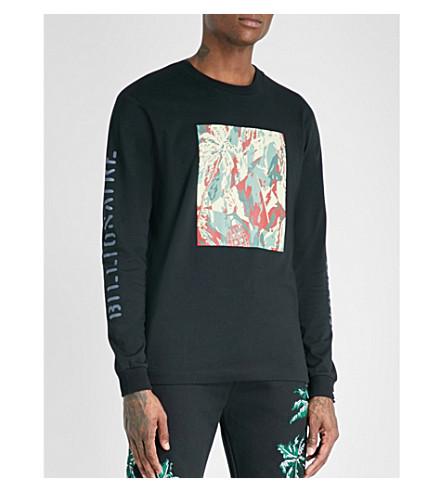 BILLIONAIRE BOYS CLUB Lizard-print cotton-jersey top (Black