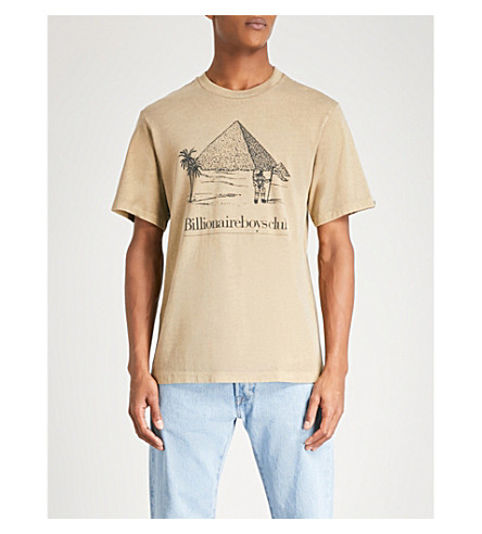 BILLIONAIRE BOYS CLUB Pyramid-print cotton-jersey T-shirt (Sand