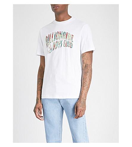BILLIONAIRE BOYS CLUB Camo logo-print cotton-jersey T-shirt (White