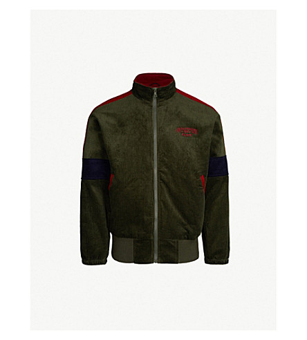BILLIONAIRE BOYS CLUB Contrast-panel corduroy jacket (Forest+green