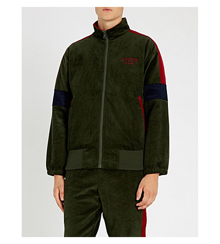 BILLIONAIRE BOYS CLUB Contrast-panel corduroy jacket (Forest green