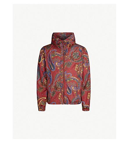 BILLIONAIRE BOYS CLUB Paisley-print shell jacket (Red