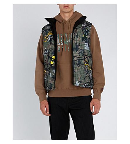 BILLIONAIRE BOYS CLUB Reversible graphic-print shell vest