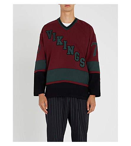 BILLIONAIRE BOYS CLUB Vikings cotton-jersey top