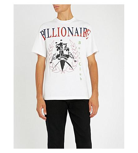 BILLIONAIRE BOYS CLUB Lander Souvenir screen-printed cotton-jersey T-shirt (White