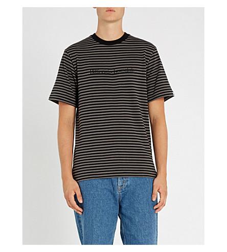 BILLIONAIRE BOYS CLUB Logo-embroidered striped cotton-jersey T-shirt (Black