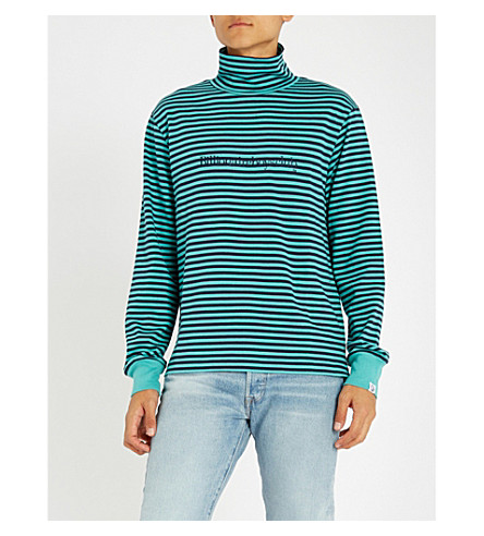 BILLIONAIRE BOYS CLUB Striped cotton-jersey sweatshirt