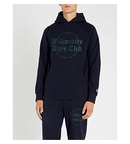 BILLIONAIRE BOYS CLUB College logo-embroidered cotton-jersey hoody