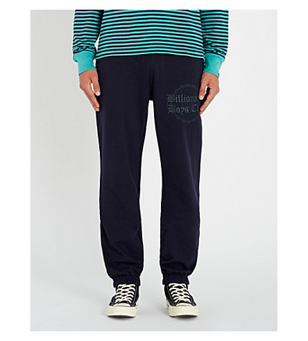 BILLIONAIRE BOYS CLUB College cotton-jersey jogging bottoms (Navy