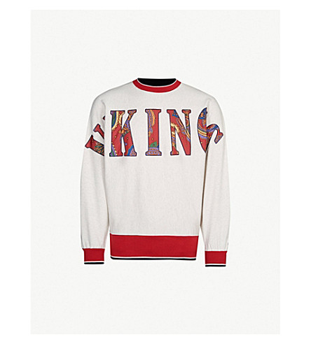 BILLIONAIRE BOYS CLUB Vikings cotton-jersey sweatshirt (White