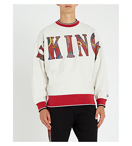 BILLIONAIRE BOYS CLUB Vikings cotton-jersey sweatshirt (White