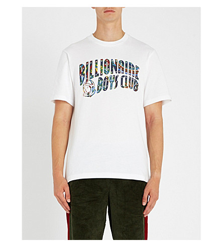 BILLIONAIRE BOYS CLUB Paisley brand-print cotton-jersey T-shirt