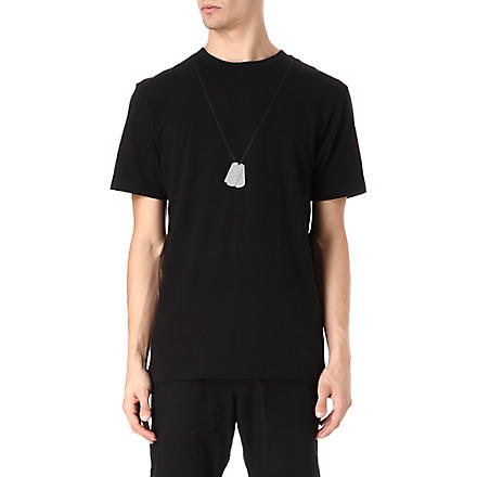 BILLIONAIRE BOYS CLUB Dog tag t-shirt (Black