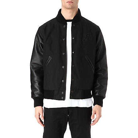 BILLIONAIRE BOYS CLUB Ballistic varsity jacket (Black