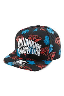 BILLIONAIRE BOYS CLUB Arch logo diamond print cap