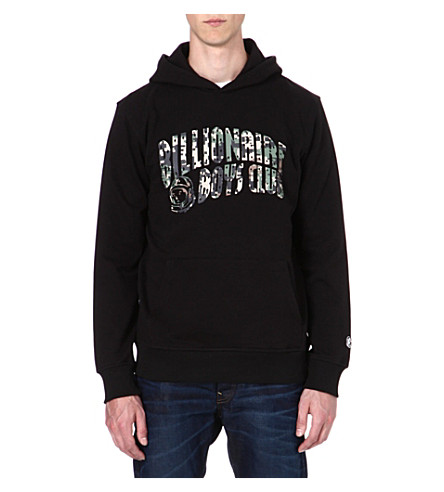 BILLIONAIRE BOYS CLUB Printed cotton hoody (Black/ digi camo