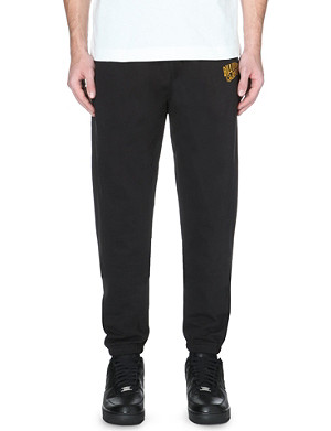 BILLIONAIRE BOYS CLUB Gold logo embroidered cotton-jersey jogging bottoms