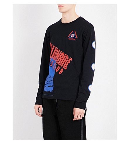 BILLIONAIRE BOYS CLUB Logo-print cotton top (Black
